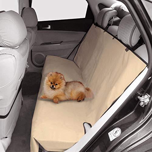 Nobleza - Cubierta de Asiento Impermeable de Coche para Mascotas, Protector de Asiento para Perros Oxford Impermeable, Alfombrilla Universal, Beige, 185 * 142cm.