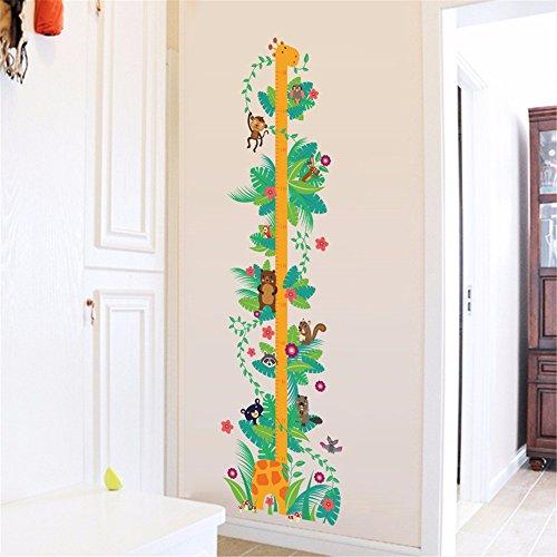 Adesivi e murali da pareteCartone animato adesivo da parete adesivo altezza disegnare giraffa bambino misuratore altezza altezza bambini asilo decorazione della stanza rimovibile 70 * 50cm