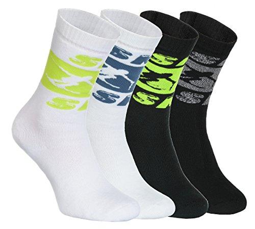 """4 Paar Weiß Winter Socken, Größe 36/38 Rainbow Socken """"Ski"""" – sehr dicke, warme Frotté-Socken, in der EU hergestellt, Baumwolle höchster Qualität Zertifikat Öko-tex"""