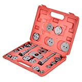 22 teiliger KFZ-Werkzeug-SatzBremskolbenrücksteller Kolbenrücksteller-Set zum Zurückstellen des Bremskolbens bei Bremsscheiben-, Bremsbacken- oder Bremsbelag-Wechsel