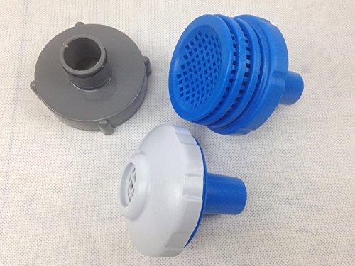 Anschlussteile für Pumpe, Filteranlage an Intex Pools bis 457 cm, 5-teilig, mit Sieb, Einlaufdüse und Adapter für Saugschlauch