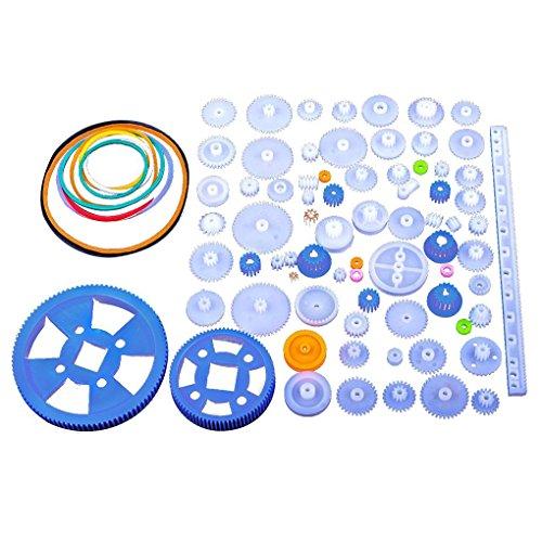 Bodbii Kunststoff-Lager Gear Set verschiedene Arten von Zahnradpaket Spielzeug Autozubehör Motor Getriebe DIY Schneckenachse Riemen -lager