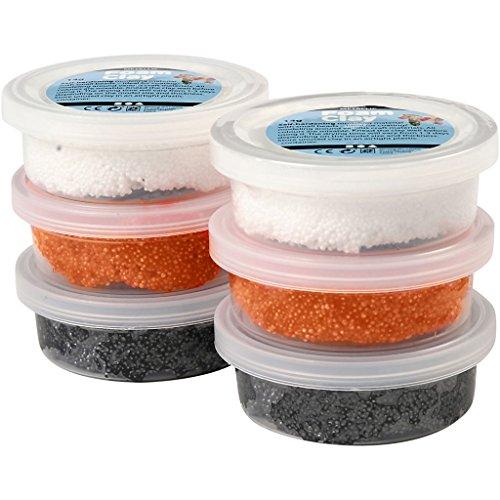 Foam Clay®, weiß, orange, schwarz, Halloween, 6x14g