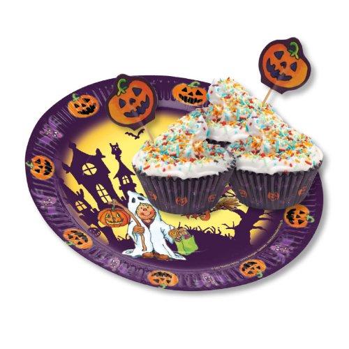 der11168Halloween Muffin Teller Teller (groß, 5-teilig) (Halloween-papier-spiele)
