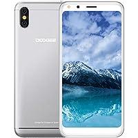 Smartphone Pas Cher, DOOGEE X53 3G Telephone Portable Debloqué, Écran 5,3 Pouce 18:9, 1Go RAM 16Go ROM, Processeur Quad Core, Deux Caméras Arrière 5MP, Smartphone Android 7,0 Double SIM - Argent