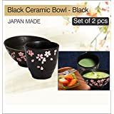 WYNCH Made In Japan Ceramic Tea Cup And Bowl Set With Pink Sakura Etching