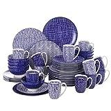 Vancasso, Takaki Porzellan Geschirrset, 48 TLG. Set Rund Tafelservice für 12 Personen, Beinhaltet Kaffeebecher, Schalen, Dessertteller und Flachteller