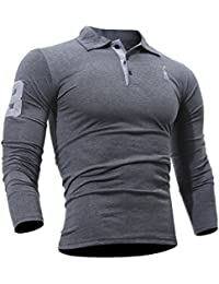 Polos à manches longues Wslcn rouges Sportifs homme soFLMgBGn