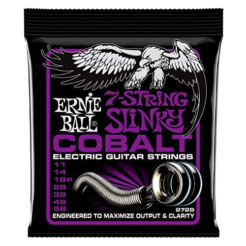 Ernie Ball Power Slinky Kobalt 7-Saiter E-Gitarre Saiten - 11-58 Gauge