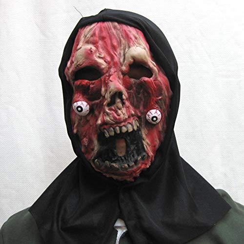 Rwdacfs Halloween mask,Halloween Party Bad face Black Cloth Set Latex ()