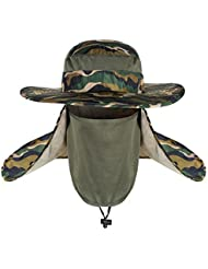 hommes pêche chapeau détachable Casquette COU visage Rabat Casquette été Seau UPF 50+ maille pliage pour jardin de travail camping randonnée