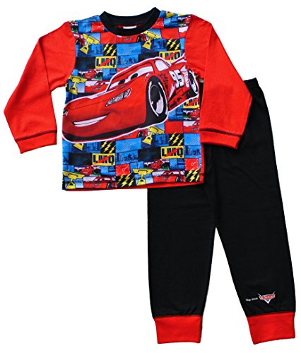 Image of Disney Cars Pyjamas 2 to 7 Years Mcqueen Cars Pyjamas Disney Long Cars PJs W16 (3-4 Years)