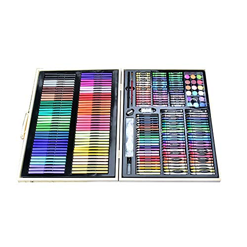 AUMING Bleistift Zeichnen Set 251 Teile/Satz Kinder Kunst Zeichenwerkzeug Wasser Farbstift Flüssige Malerei Kits Ideales Set für Künstler, Erwachsene und Kinder (Color : Black, Size : Free Size)