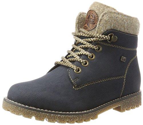Mädchen Blau Boots (Rieker Kinder Mädchen K1568 Combat Boots, Blau (Pazifik/Wood/Chestnut), 39)