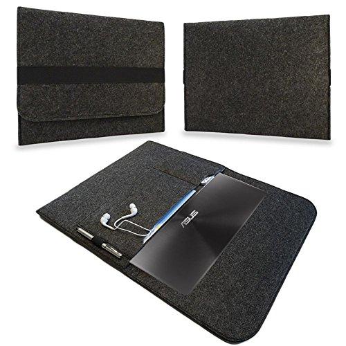 Sleeve Hülle für Odys Vario Pro 12 Notebook Ultrabook Laptop Schutzhülle von UC-Express®, Farbe:Dunkel Grau
