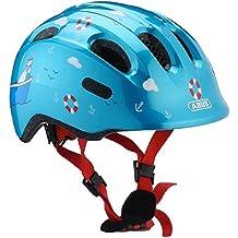 ABUS Niños Smiley 2.0–Casco para bicicleta, todo el año, infantil, color turquoise sailor, tamaño 45-50 cm