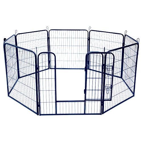 Jalano Welpenauslauf Welpengitter Laufstall für Hunde Katzen Hasen Zaun 8-teilig, Höhe:100 cm
