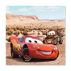 Toile sur châssis tableau mural - 35 x 35-disney cars 2 lightning mcQueen &hook