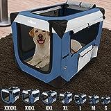 Hundetransportbox in Größenwahl S-XXXXL | Faltbar, abwaschbar | Hundebox, Katzenbox, Transporttasche, Faltbox, Reisebox