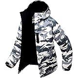 Southplay Herren Camouflage mit Kapuze Wasserdichte Winter Snowboard-Elfenbein (Small)
