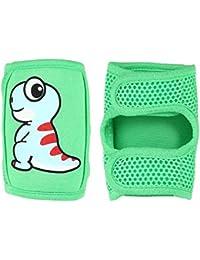 FOONEE Baby Knieschoner Baby Kriechen Anti-Rutsch Knie Pads Verstellbarer Schlaufe und Atmungsaktiv 3D Unisex für Jungen Mädchen Infant Kleinkind Knie & Ellenbogen Pads Green Dragon