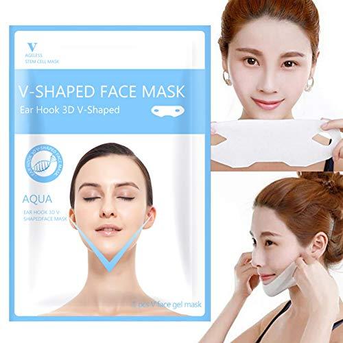 10 STÜCKE Anheben der Flicken für Gesicht und Kinnlinie, Gesichts-Anhebende Kinn-Wangen-Abnehmen Anti-Falten-Bügel, V Gesicht Maske für Kinn Line Kontur, Straffende, Hub-maske, Anti-Aging Masken (A2)