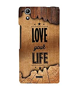 Love Your Life 3D Hard Polycarbonate Designer Back Case Cover for Micromax CanvasSelfie2Q340