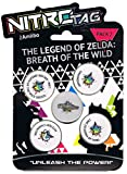 "4 NitroTag Cheat-Chips ""Zelda Breath of the Wild"" (Pack 2 mit Link - Ocarina of Time, Ganindorf, Link-Archer, Zufalls-Figur)"