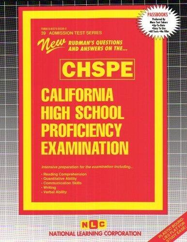 California High School Proficiency Examination (CHSPE) (Ats39) by Passbooks (2013-01-01)