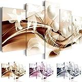 Cuadro 200x100 cm ! Tres colores a elegir - 5 Partes - Formato Grande - Impresion en calidad fotografica - Cuadro en lienzo tejido-no tejido - Abstracci�n Flor b-A-0226-b-o 200x100 cm B&D XXL