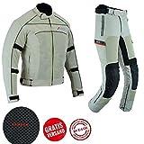 BOS 2-teiler Motorradkombi Textilien Motorradjacke + Motorradhose, (M)