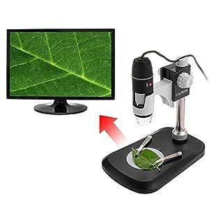 COLEMETER® Microscope Numérique Loupe Grossissement Zoom USB 500X LED pour Laboratoire