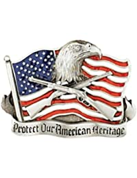"Boucle de ceinture country ""Protect Our American Heritage"" MADE IN USA # G-4027"