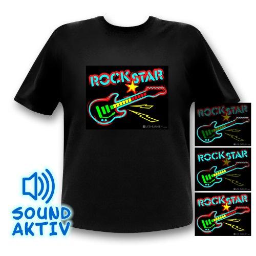 LED T-Shirt Equalizter Shirt Rockstar Mann (xxl) (Rockstar Kleidung)