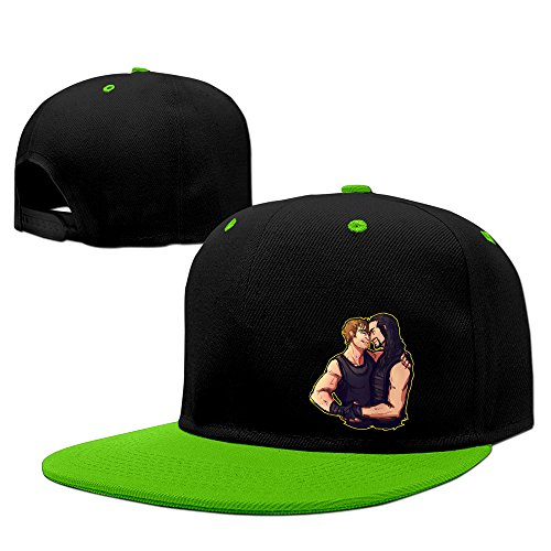yGreen BROTHERS Dean Ambrose Roman Reigns WWE Hip-Hop Sports Baseball Hats Baseball Cap Hat ()