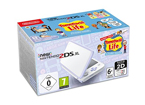 New Nintendo 2DS XL Weiß + Lavendel inkl. Tomodachi Life