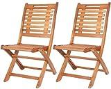Lot-de-2-Chaise-Bois-Dur-terrasse-Chaise-de-jardin-en-bois