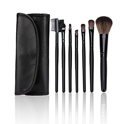 L'Amore Pinsel Makeup Set 7 Stücke Kosmetikpinsel Schminkpinsel Sets Lidschatten Wimpern...