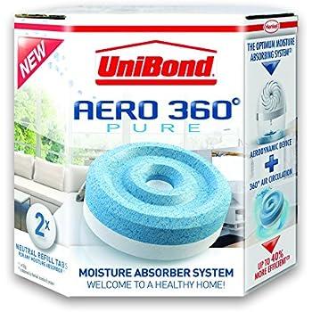 UniBond Aero 360 Moisture Absorber Neutral Refill Tabs, Pack of 2