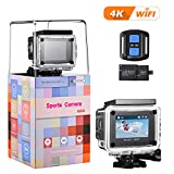 4K Action Kamera, VTIN WIFI sports cam 16MP Ultra Full HD Unterwasserkamera Helmkamera 2'LCD mit...
