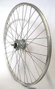 28 Zoll Fahrrad Laufrad Vorderrad Hohlkammerfelge Shimano Nabendynamo CUT 19 DH3N31 silber für V-Brakes / Felgenbremse