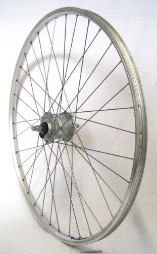 28 Zoll Fahrrad Laufrad Vorderrad Hohlkammerfelge Shimano Nabendynamo CUT 19 DHC30003 Vollachse silber für V-Brakes / Felgenbremse