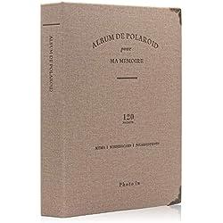 Amimy 120 Poches Photo Album pour Fujifilm Instax Mini 7s 8 8+ 9 25 50 70 90, Polaroid PIC-Snap 300, Sprocket HP, Kodak Mini 3 Pouces Film (Kaki)