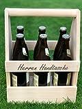 Die Zündwolli Herren Handtasche aus Holz für DEINEN SIXPACK - Bierträger für 6 Flaschen - ein echtes Männergeschenk! INKLUSIVE VERSANDKOSTEN!