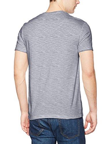 edc by ESPRIT Herren T-Shirt 997cc2k806 Mehrfarbig (Grau 400)