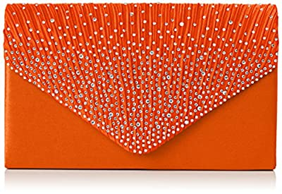 SWANKYSWANS Womens Abby Diamante Envelope Style Bag Clutch