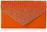 SWANKYSWANS Womens Abby Diamante Envelope Style Bag Clutch Orange