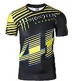 Slim Fit ras du cou court T-shirt Manches Courtes MotoGP Herren T Shirts Monster S-XXL
