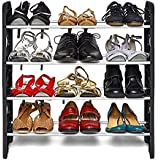 WYVERN 4 Layer Shoes Rack (Silver and Black)