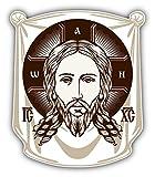 Face Of Jesus Orthodox Church Icon Religion Art Decor Vinyl Sticker Aufkleber 10 x 12 cm